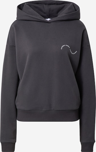 Comfort Studio by Catwalk Junkie Sweat-shirt 'THE NEW POWERSUIT' en noir / blanc, Vue avec produit