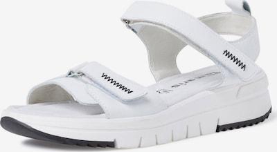 TAMARIS Pohodni sandali | črna / bela barva, Prikaz izdelka