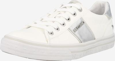 MUSTANG Baskets basses en gris / argent / blanc, Vue avec produit