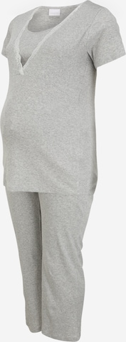 Mamalicious Curve Pyjama 'Amaja' in Grau