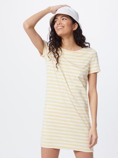VILA Kleid 'TINNY' in hellgelb / weiß, Modelansicht