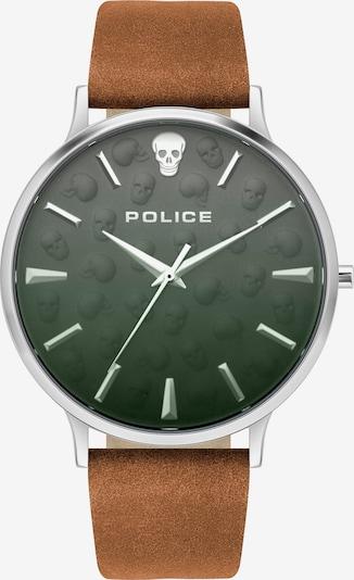 POLICE Analoguhr in braun / tanne, Produktansicht