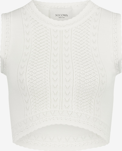 Nicowa Top 'SCALINO' in weiß, Produktansicht