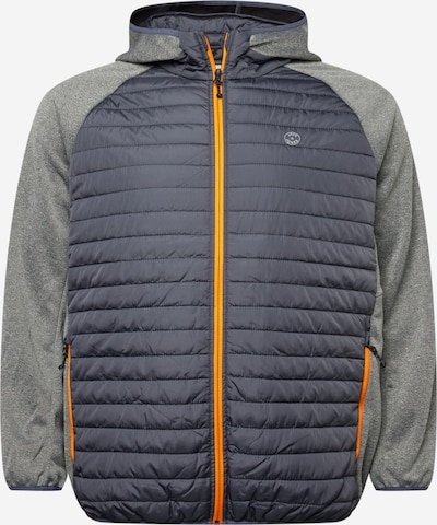 Jack & Jones Plus Jacke in marine / grau / orange, Produktansicht