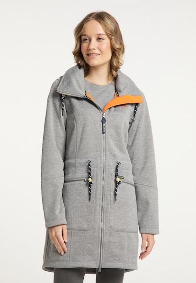 Schmuddelwedda Functionele mantel in de kleur Lichtgrijs / Sinaasappel / Zwart, Modelweergave