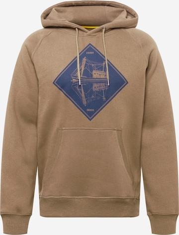 Derbe Sweatshirt 'Schipp' in Braun