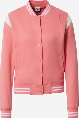 Urban Classics Curvy - Chaqueta de entretiempo en rosa