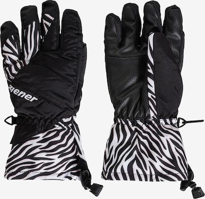 ZIENER Skihandschuhe 'Agil' in schwarz / weiß, Produktansicht
