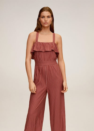 MANGO Overall in rot: Frontalansicht