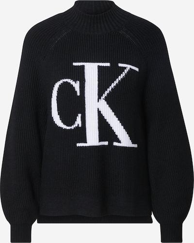 Calvin Klein Jeans Pulover u crna / bijela, Pregled proizvoda