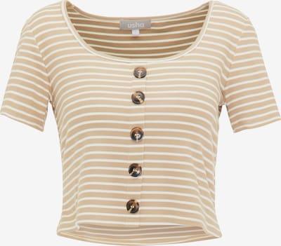 Usha Shirt in beige / weiß, Produktansicht