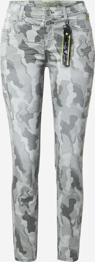 STREET ONE Jeans in grau / khaki / weiß, Produktansicht