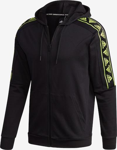 ADIDAS PERFORMANCE Sportsweatjacke in neongelb / schwarz, Produktansicht