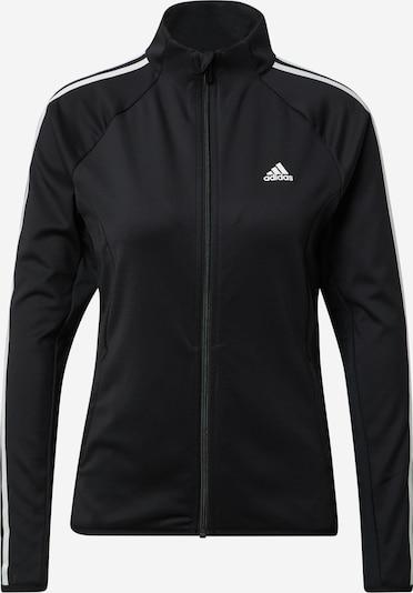 ADIDAS PERFORMANCE Sportsweatjacke 'W 3S TJ' in schwarz / weiß, Produktansicht