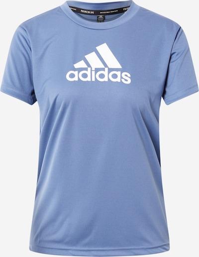 ADIDAS PERFORMANCE Функционална тениска в опушено синьо / бяло, Преглед на продукта