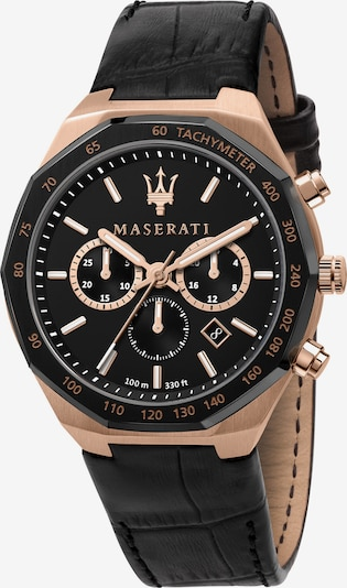 Maserati Analoog horloge in de kleur Rose-goud / Zwart, Productweergave