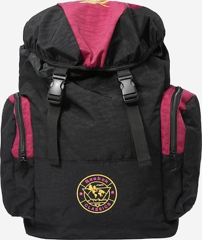 Reebok Classics Rucksack in goldgelb / beere / schwarz, Produktansicht