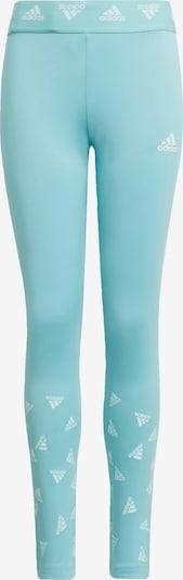 Sportinės kelnės iš ADIDAS PERFORMANCE, spalva – mėtų spalva / balta, Prekių apžvalga