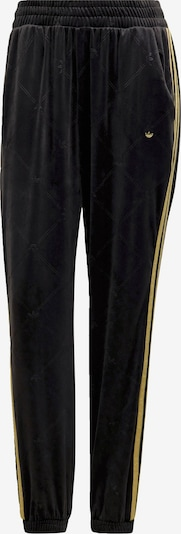 ADIDAS ORIGINALS ' Velvet Embossed adidas Originals Monogram and Gold Stripes Trainingshose ' in schwarz, Produktansicht