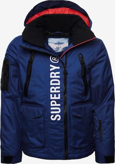 Superdry Winterjas in de kleur Blauw / Oranjerood / Zwart / Wit, Productweergave
