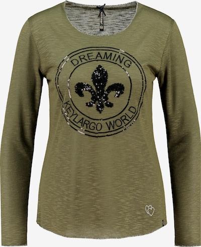 Key Largo Langarmshirt in khaki / schwarz, Produktansicht