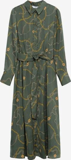 MANGO Blusenkleid in gelb / oliv, Produktansicht