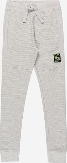 BLUE SEVEN Pantalon en gris chiné / vert clair / noir, Vue avec produit