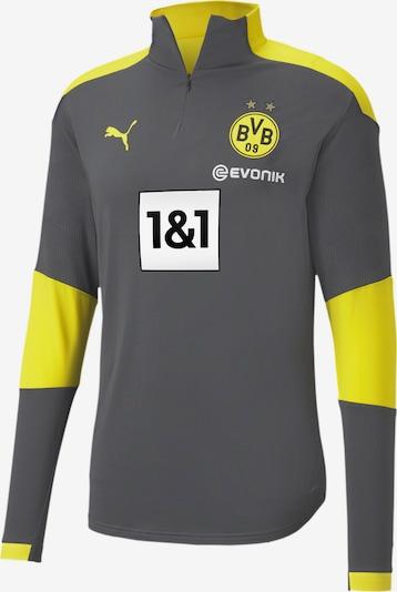 PUMA Sportsweatshirt 'BVB' in gelb / anthrazit, Produktansicht
