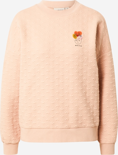 Maloja Sweatshirt in safran / orange / rosa / altrosa / schwarz, Produktansicht