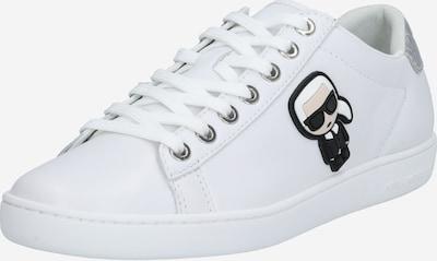 Karl Lagerfeld Zemie brīvā laika apavi 'KUPSOLE' melns / Sudrabs / balts, Preces skats