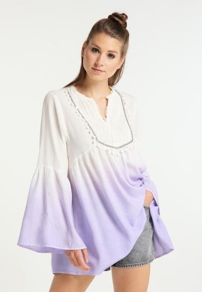 Bluză MYMO pe mov liliachiu / alb, Vizualizare model