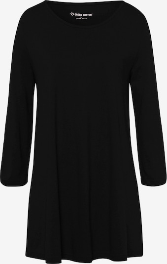 Green Cotton 3/4-Arm-Shirt Longshirt in schwarz, Produktansicht
