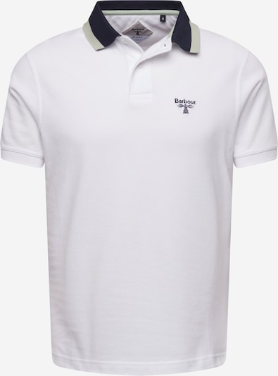 Barbour Beacon Poloshirt in nachtblau / pastellgrün / offwhite, Produktansicht