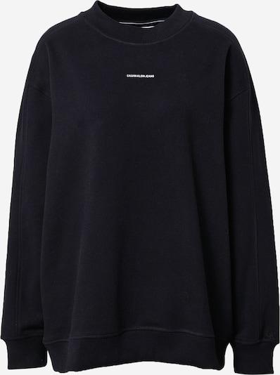 Calvin Klein Jeans Curve Sweatshirt i svart / vit, Produktvy
