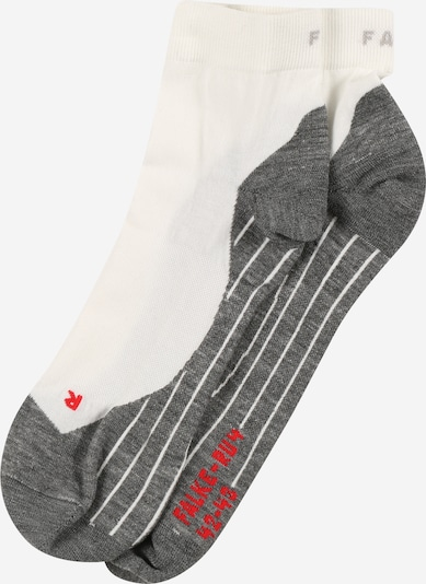 FALKE Socken 'RU4' in grau / rot / weiß, Produktansicht