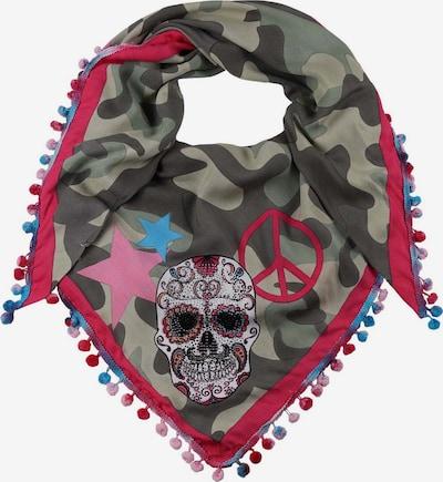 Zwillingsherz Masque en tissu en bleu / kaki / vert foncé / pitaya / blanc, Vue avec produit
