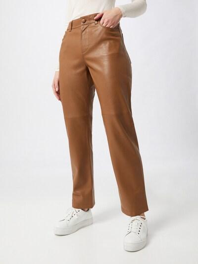 Samsoe Samsoe Broek 'Vestine' in de kleur Camel, Modelweergave