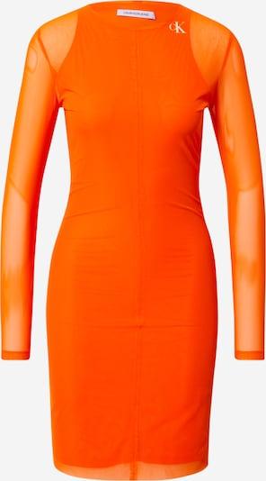 Calvin Klein Jeans Kleid in neonorange / weiß, Produktansicht