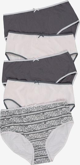 Ulla Popken Slips in grau / weiß, Produktansicht