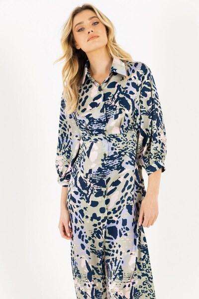 Zibi London Kleid 'Rio' in enzian / khaki / lavendel / pfirsich, Produktansicht