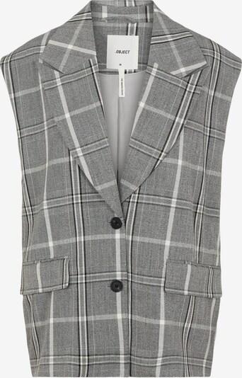 OBJECT Weste 'Penny' in grau / schwarz / weiß, Produktansicht