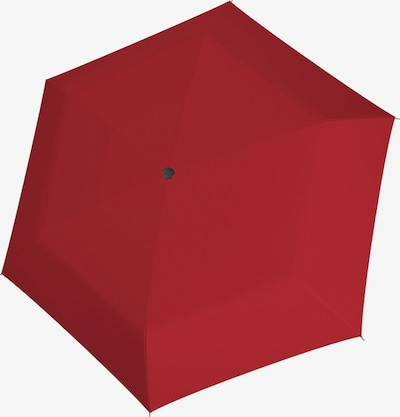 Doppler Regenschirm 'Carbonsteel Slim' in feuerrot, Produktansicht