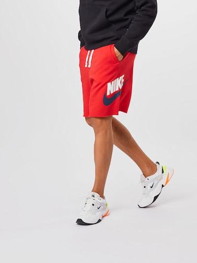Nike Sportswear Nohavice - námornícka modrá / červená / biela, Model/-ka