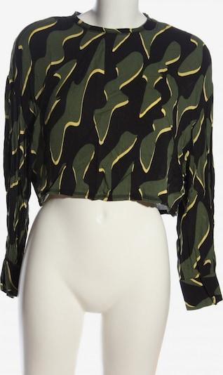 WEEKDAY Langarm-Bluse in XS in pastellgelb / khaki / schwarz, Produktansicht