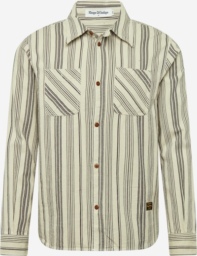 Kings Of Indigo Overhemd 'JUNTOKU' in de kleur Taupe / Donkergrijs, Productweergave