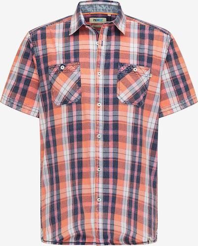 PIONEER Hemd in navy / hellorange / rosa / naturweiß, Produktansicht