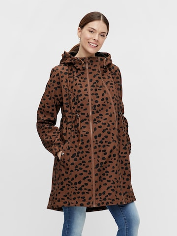 MAMALICIOUS Between-Seasons Coat 'Ella' in Brown