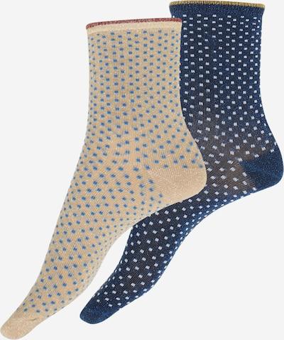 BeckSöndergaard Socken 'Dina' in beige / blau, Produktansicht