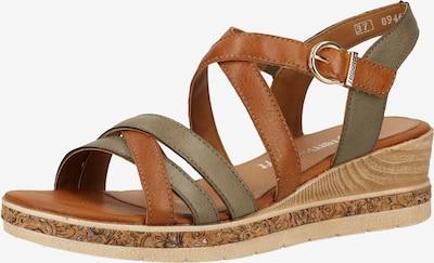 REMONTE Sandale in karamell / taupe, Produktansicht