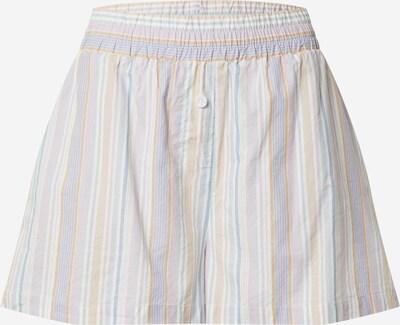 Cotton On Shorts in hellblau / hellbraun / helllila / weiß, Produktansicht